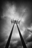 Pylon with wires Royalty Free Stock Images
