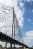 Pylonbrücke über Ada, Belgrad Lizenzfreies Stockbild