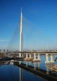 Pylonbro över Ada arkivbilder