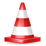 Pylone. Vector raffic cone icon red Stock Photos