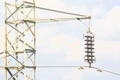 Pylone e isolador Fotografia de Stock
