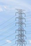 Pylonen en kabel Royalty-vrije Stock Foto