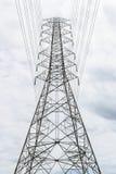 Pylonen en kabel Royalty-vrije Stock Foto's
