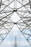 Pylonen en kabel Royalty-vrije Stock Fotografie