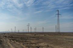Pyloner i öknen Fotografering för Bildbyråer