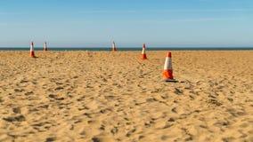 Pyloner på stranden Royaltyfria Bilder