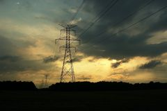 Free Pylons Royalty Free Stock Photo - 130545