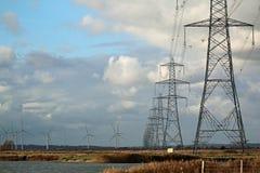 pylons Royaltyfria Bilder