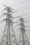 Pylons background in the sky Royalty Free Stock Photo