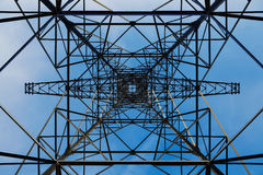 Pylons from below Royalty Free Stock Photo