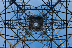 Pylons from below Stock Photography