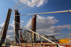 Site of under construction Bridge Royalty Free Stock Images
