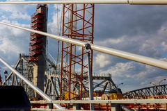 Site of under construction Bridge Royalty Free Stock Image