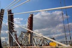 Site of under construction Bridge Stock Photography