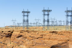 Pylons of the current Stock Photography