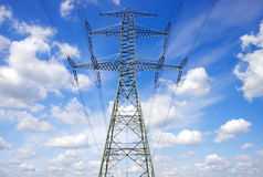 Pylons electric energy Stock Photography
