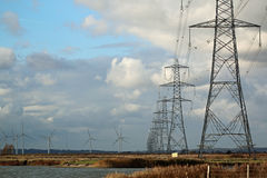 Pylons Royalty Free Stock Images
