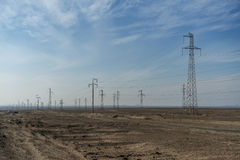 Free Pylons In The Desert Stock Image - 77017071