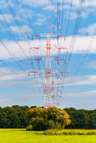 Pylons near Darmstadt (germany) Stock Photography