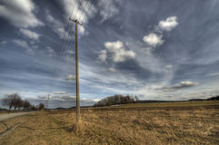 Pylons next to the road Royalty Free Stock Photography