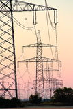 Pylons after Sunset Royalty Free Stock Photos