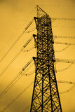 Pylons Tower. Long And Old Pylons Tower Cable Royalty Free Stock Photo