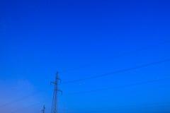 Pylons under starry sky Royalty Free Stock Photography