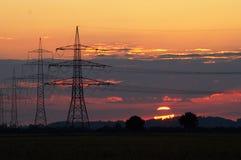 pylonssolnedgång Arkivbilder