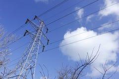 Pyloon in de hemel. Stock Fotografie