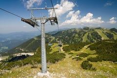 Pyloon van kabelbaan in hochkar Stock Fotografie