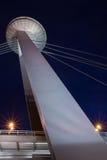 Pyloon van nieuwe brug in Bratislava Stock Fotografie