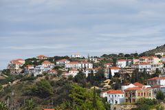 Pylos in Messinia, Greece. Town of Pylos shown at morning time. One from most popular tourist destination in Messinia, located in Navarino bay, Greece Royalty Free Stock Photo