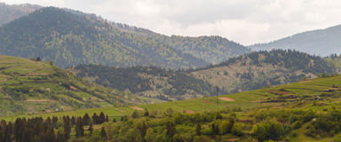 Pylypetsdorp Karpatische bergen Stock Fotografie