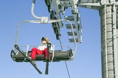 滑雪电缆车在雍Pyong韩国 库存照片