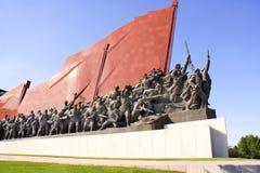 PYONG YANG, CORÉE DU NORD, LE 14 SEPTEMBRE 2017 : Monument grand Mansu photos libres de droits