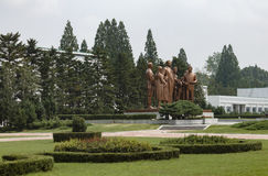 The Pyongyang film Studio. The monument to the great Director, Kim Il-sung Royalty Free Stock Image