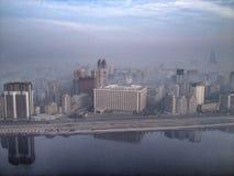 Pyongyang linia horyzontu w ranku świetle Zdjęcia Stock