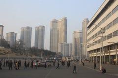 Pyongyang mieszkania Zdjęcia Royalty Free