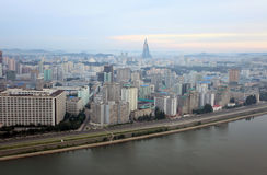 Pyongyang 2013. Pyongyang in morning fog,this is a city without advertising Royalty Free Stock Images