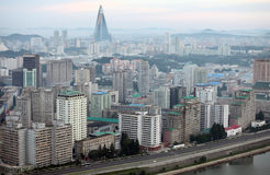 Pyongyang 2013. Pyongyang in morning fog,this is a city without advertising Stock Photography