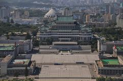 Pyongyang, North-Korea, 09/07/2018: Kim Il Sung Palace on Kim Il Sung square is incredibly huge and usually hosts the annual milit stock photography