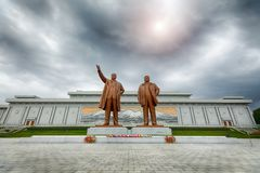 PYONGYANG,NORTH KOREA-OCTOBER 13,2017:  Monument to Kim Il Sung Stock Images