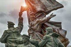 PYONGYANG, północ KOREA-OCTOBER 13,2017: Rzeźbiona grupa po t fotografia royalty free