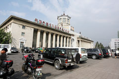 Pyongyang railway station Stock Photo