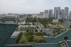 Pyongyang from the roof of Grand Peoples Study House Royalty Free Stock Photo