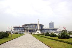 PYONGYANG - SEPTEMBER 19, 2017: Palace of Science and Technology. NORTH KOREA, PYONGYANG - SEPTEMBER 19, 2017: Palace of Science and Technology in capital of stock images