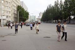 Pyongyang streetscape.2011 Foto de Stock Royalty Free
