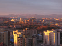 Pyongyang,the sundown in North Korea. Stock Photography