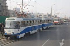Pyongyang tramwaje Obraz Royalty Free