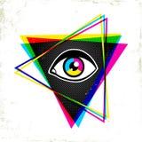Pypamid и глаз иллюстрация штока